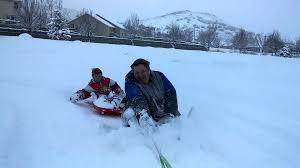 Winter Wonderland Sledding Fails