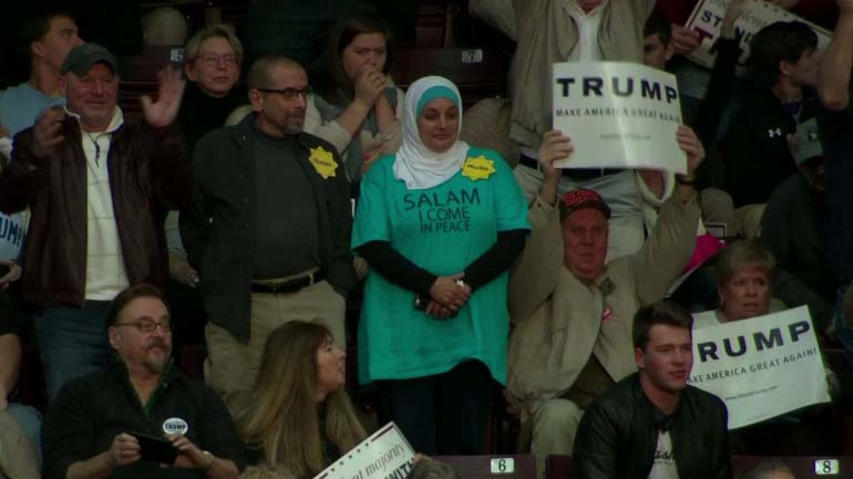 Muslim Woman Kicked Out of Trump's Campaign
