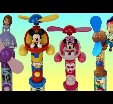 DISNEY JR. Candy Fans with Princess Sofia, Mickey Minnie Mouse & Jake Toy Surprises / TUYC