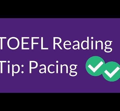 TOEFL Reading Tip: Pacing