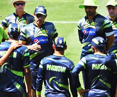 Pakistani Team Practice Session At Cazaly Stadium