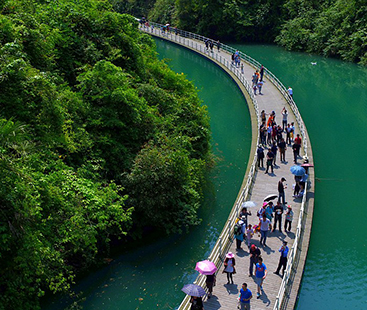 Chinese Floating Walkway