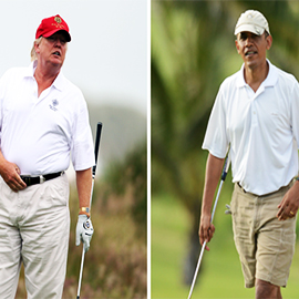 Trump Vs Obama On The Golf Course