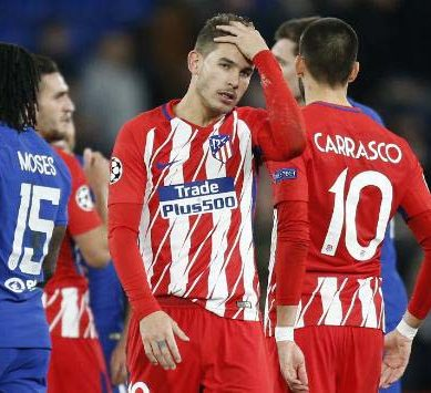Atletico Madrid out of Champions League after draw at Chelsea