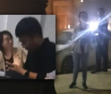 Chinese couple enters into a scuffle, police arrives at the scene