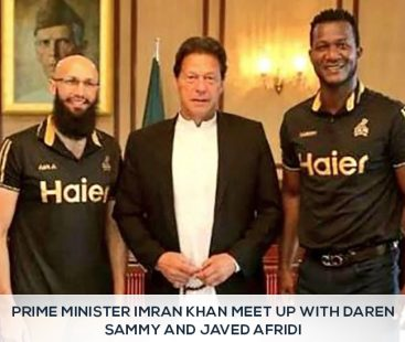 Prime Minister Imran Khan Meet Up with Daren Sammy and Javed Afridi