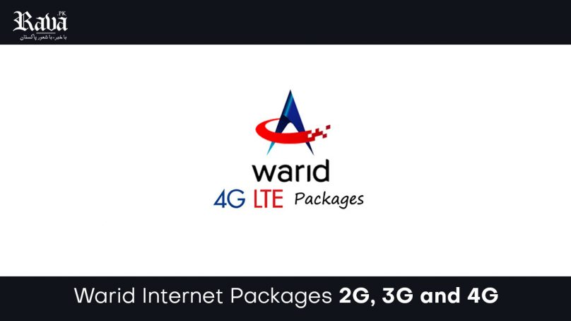 Warid Internet 2g, 3g and 4g Packages