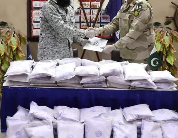 Pakistan Navy and Anti-Narcotics Force seize drugs in a joint operation off Pasni