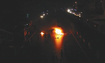 Residents of Karachi take to the streets to protest long power breakdowns