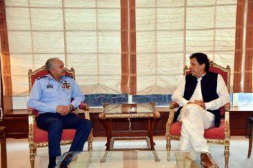 Chief of Air Staff Meets PM Imran Khan