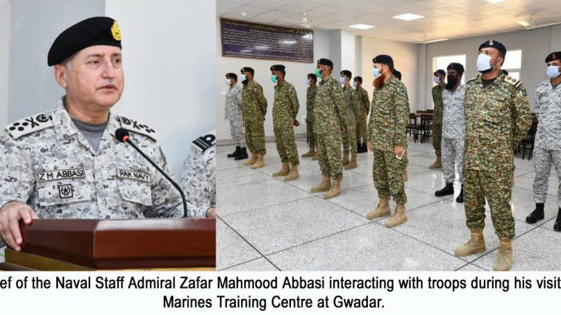 Chief of  the Naval Staff visits Naval installations at Gwadar & Ormara