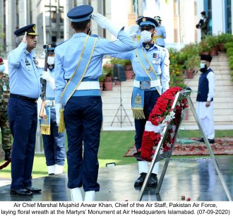PAF observed 7 September as Martyrs' Day at all PAF Bases throughout the country.
