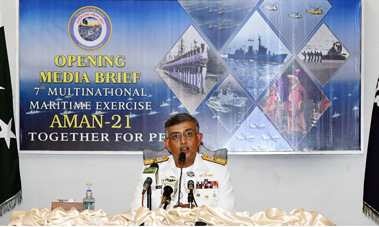 Opening Brief of Multinational Naval Exercise AMAN 2021