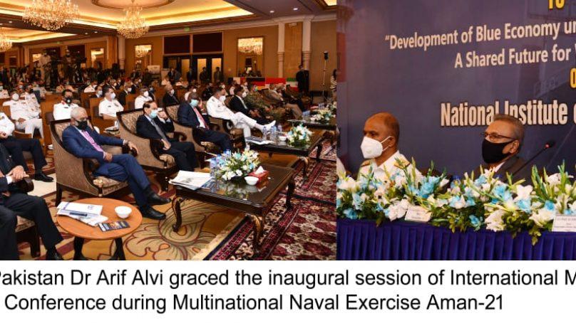 President Alvi inaugurates 9th International Maritime Conference