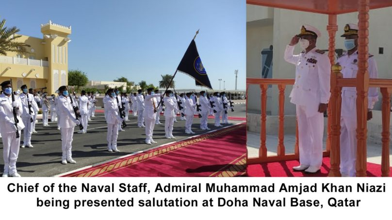 Chief of the naval staff admiral meets military heads of qatar forces
