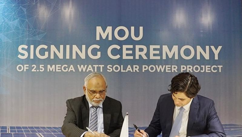 Master Changan Motors Signs Contract with Orient Power System to install a 2.5MW Solar Power Project