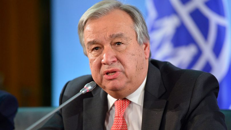 Millions around the globe may risk famine: UN chief