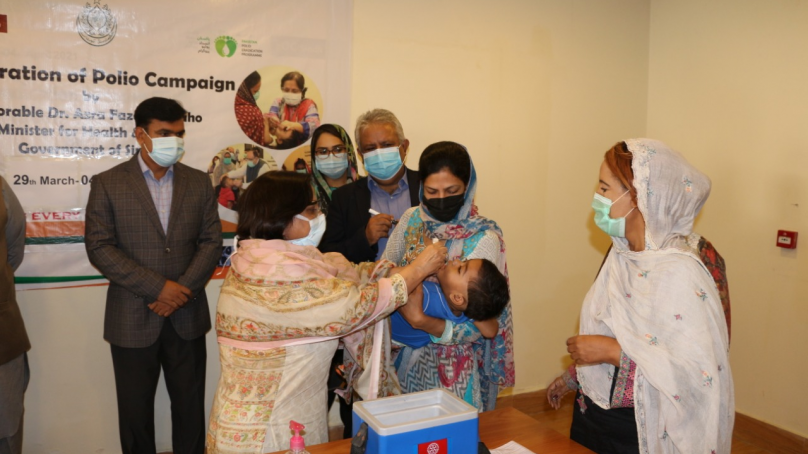 Sindh health minister launches polio campaign in province
