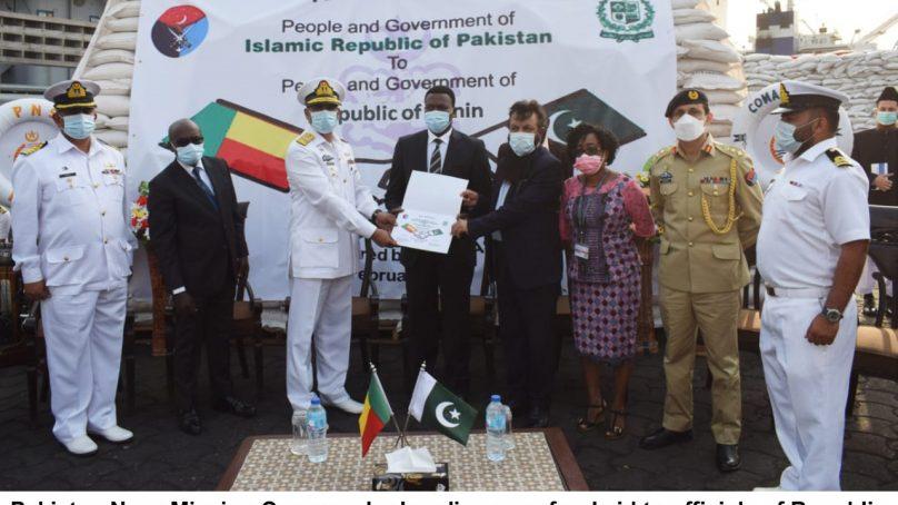 Pakistan Navy Ship NASR delivers food commodities to Niger & Banin
