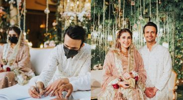 Usman Mukhtar ties a knot in a socially distanced event