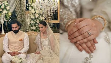 Mansha Pasha and Jibran Nasir tie the knot