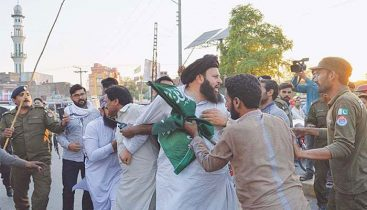 Protest breaks out as the TLP chief, Saad Rizvi is taken into custody