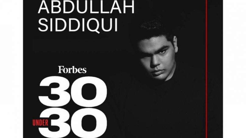 A Pakistani musician, Abdullah Siddiqui makes it to Forbes 30 Under 30