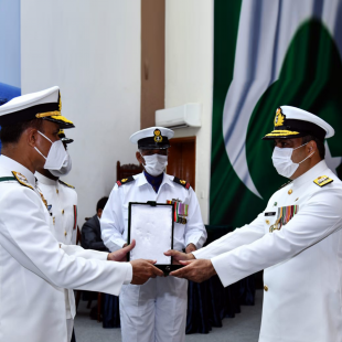 Naval Chief confers military awards upon Pakistan Navy personnel