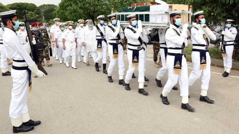 Formal Navy Chief Admiral Karamat Rehman Niazi laid to rest in Islamabad