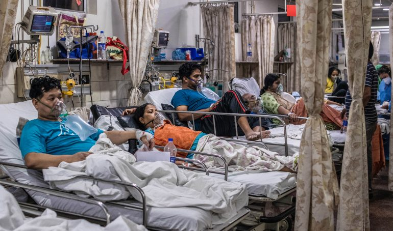 A decline in coronavirus cases in India
