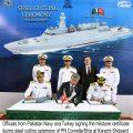 Steel Cutting ceremony of MILGEM Class Corvettes for Pakistan Navy