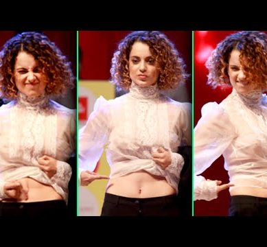 Kangana Ranaut Flaunts Sexy Abs At Event Bollywood Hottest Abs 389x360