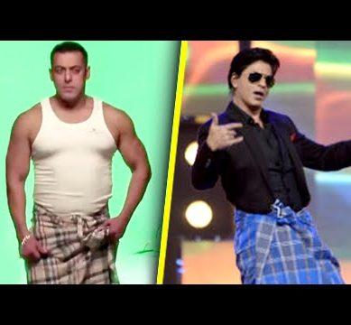 Salman Khan Lungi Swag Does A Shah Rukh Khan 389x360