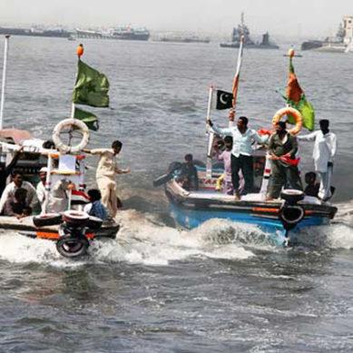 چارسدہ میں کشتی رانی کا مقابلہ