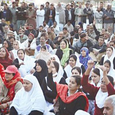 لاہور: نوجوان ڈاکٹرز کا احتتاج