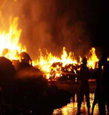 کیماڑی آئل ٹرمینل پر آگ بھڑک اٹھی