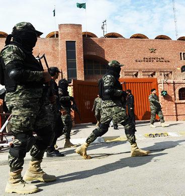 Troops take over Gaddafi Stadium NEW 368x389