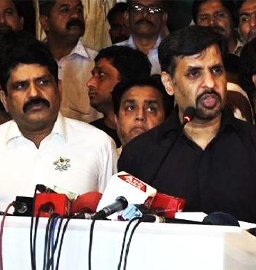 PSP Extends Anti Govt Protest In Karachi Mustafa kamal 368x389