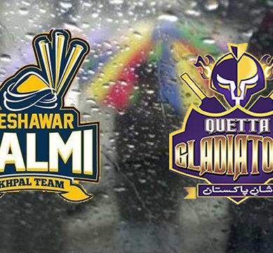پی ایس ایل پلے آف: لاہور کی بارش کوئٹہ گلییڈی ایٹرز کوڈبوسکتی ہے