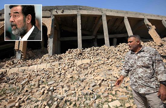 صدام حسین کے مزار پر بمباری، لاش غائب