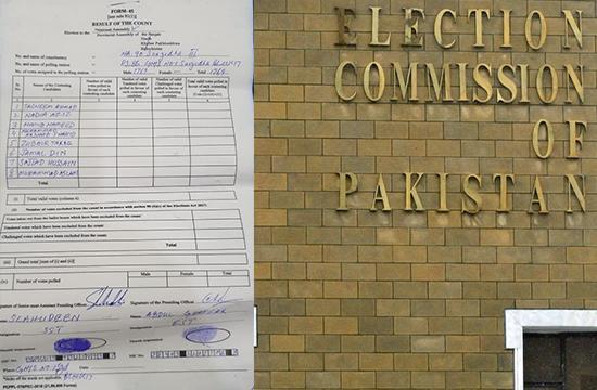 تھا جس کا انتظار آگیا وہ شاہکار: الیکشن کمیشن نے ملک بھر کے فارم 45 ویب سائٹ پر جاری کردیے