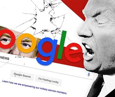 ٹرمپ کی کڑی تنقید، میڈیا کے بعد گوگل کی شامت۔
