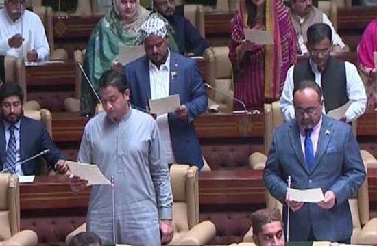 افتتاحی اجلاس: سندھ، کے پی کے، بلوچستان کے نومنتخب اراکین اسمبلی نے حلف اٹھا لیا