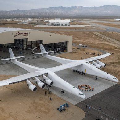 فٹ بال گراؤنڈ سے بھی بڑا، دنیا کا سب سے بڑا ہوائی جہاز ٹیک آف کے لئے تیار