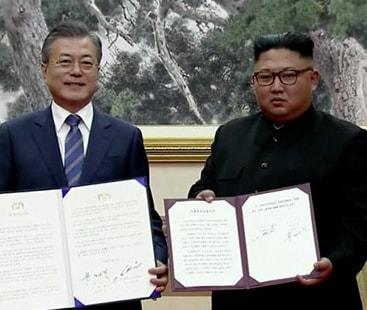 جنوبی اورشمالی کوریائی صدور کی ملاقات، جوہری ہتھیاروں سے پاک خطہ بنانے پر اتفاق