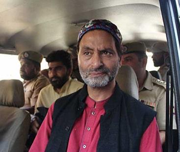 جموں کشمیر میں مظاہرہ، یاسین ملک 'الیکشن بائیکاٹ مہم' چلانے پر گرفتار