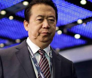 چین کی انٹرپول کے سربراہ مینگ ہونگ وائی کو تحویل میں لینے کی تصدیق