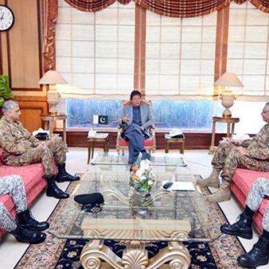 وزیراعظم عمران خان کی زیر صدارت مسلح افواج کے سربراہان کا اجلاس