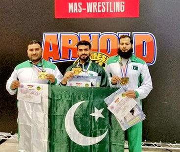 ماس ریسلنگ چیمپئن شپ، پاکستان نے دو گولڈ اور ایک کانسی کا تمغہ جیت لیا