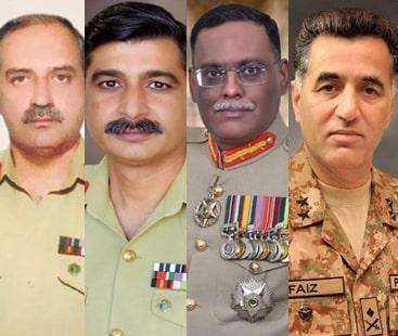پاک فوج کے چار میجر جنرلز کی لیفٹیننٹ جنرل کے عہدے پر ترقی